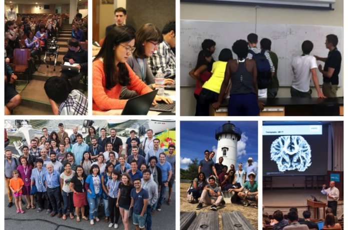 Collage of photos from past summer courses.