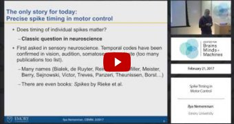 Embedded thumbnail for Spike Timing in Motor Control