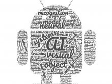 robot shape made up of word cloud