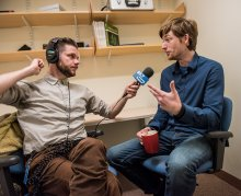 Dr. Matt Peterson talking with Edgar B. Herwick III from WGBH
