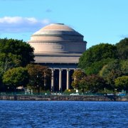 Photograph of the MIT campus  taken from the Charles River Esplanade.