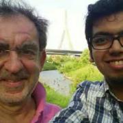 Photo of Hitesh Arora with Prof. Tomaso Poggio