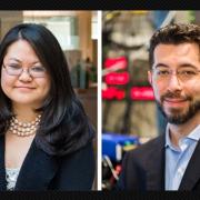 Photos of Y. Eva Tan (left) and McGovern investigator Edward Boyden (right)
