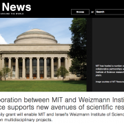 Screenshot of MIT News website