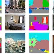 tiles of everday scenes with computer generated mapping of that scene next to it.