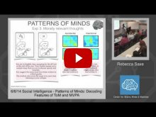 Embedded thumbnail for Rebecca Saxe: Patterns of Minds: Decoding Features of ToM and MVPA