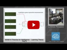Embedded thumbnail for Lorenzo Rosasco: Learning Theory, Part 3 (variable selection (OMP), dimensionality reduction (PCA))
