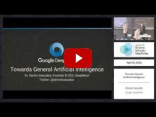 Embedded thumbnail for  Demis Hassabis: Towards General Artificial Intelligence