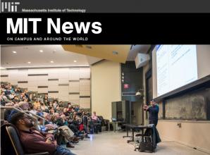 Screenshot from MIT News | Around Campus webpage.