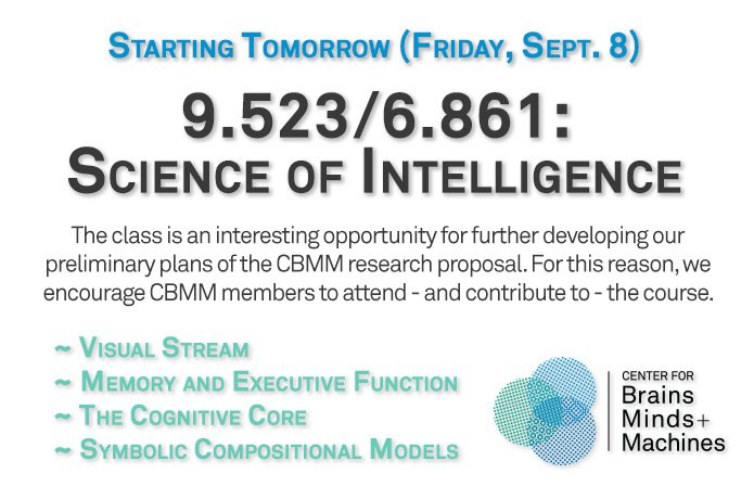 9.523/6.861: Science of Intelligence