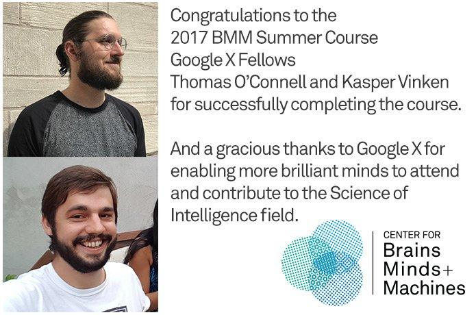 BMM 2017 Summer Course Google X Fellows