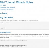 Notes for Tutorial on the Church probabilistic programming language