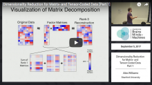 Dimensionality Reduction for Matrix- and Tensor -Coded Data (I & II)