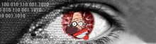 digitized Waldo in a human eye