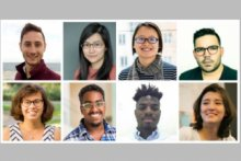 Top row: (l-r) Maxwell Sherman, Lily Weng, Yen-Ling Kuo, Guillermo Bernal. Second row: (l-r) Marie Charpignon, Mohamed Ismail, Subby Olubeko, Manon Revel.
