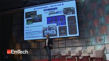 Josh Tenenbaum on stage at EmTech