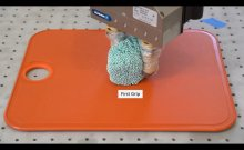 robotic fingers shaping foam simulating sushi rice