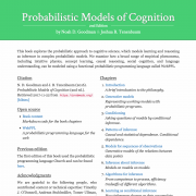 Probabilistic Models of Cognition