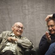 Photo of Marvin Minsky and Noam Chomsky; photo credit