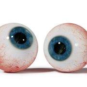 a pair of human eyeballs