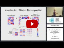 Embedded thumbnail for Dimensionality Reduction for Matrix- and Tensor-Coded Data [Part 1] (53:36)