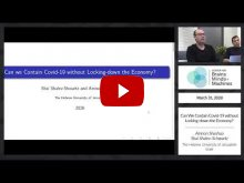 Embedded thumbnail for Can we Contain Covid-19 without Locking-down the Economy?