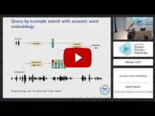 Embedded thumbnail for Acoustic word embeddings